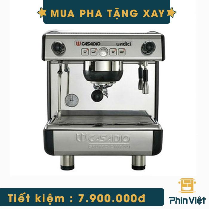 May Pha Ca Phe Chuyen Nghiep Casadio Undici A1