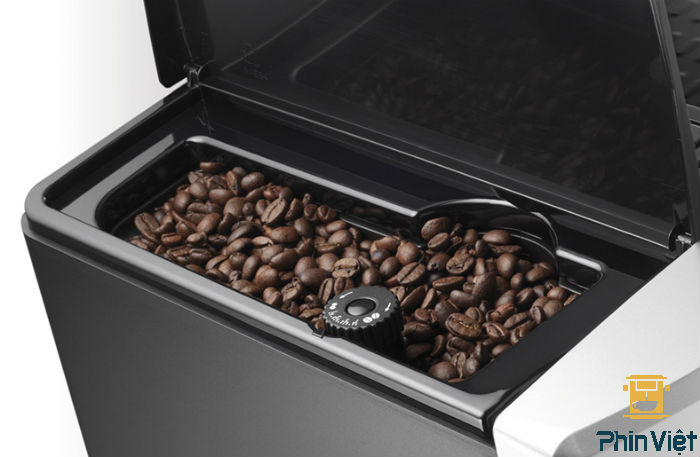 Máy pha Delonghi ESAM cho phép dùng cả cafe hạt và cà phê bột