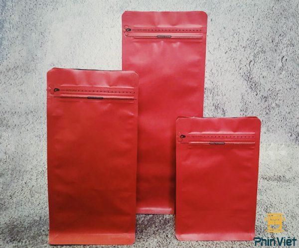 Túi đựng cà phê hạt loại 1000gr - khóa zip, van 01 chiều nhiều màu
