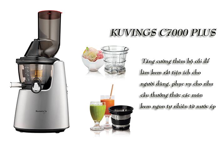 Kuvings c7000 lpus có thêm cối làm kem và cối xay sinh tố