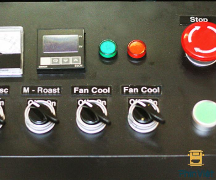 Bảng điều khiển máy rang cà phê Hotter
