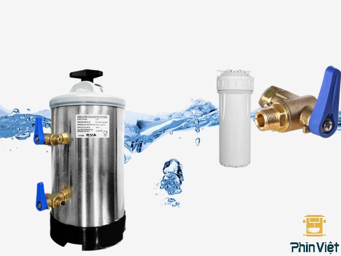Sử dụng bình lọc làm mềm nước DVA