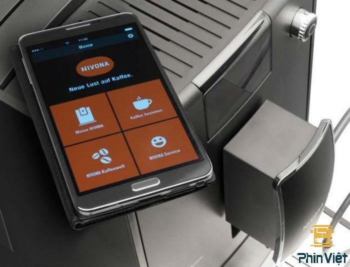 Sử dụng máy pha thông quan app điện thoại một cách dễ dàng