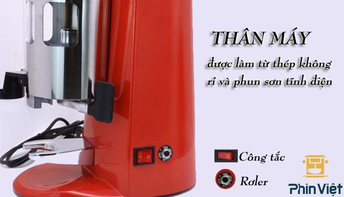 Thân máy xay cafe Pegasus 900n được làm từ thép không rỉ