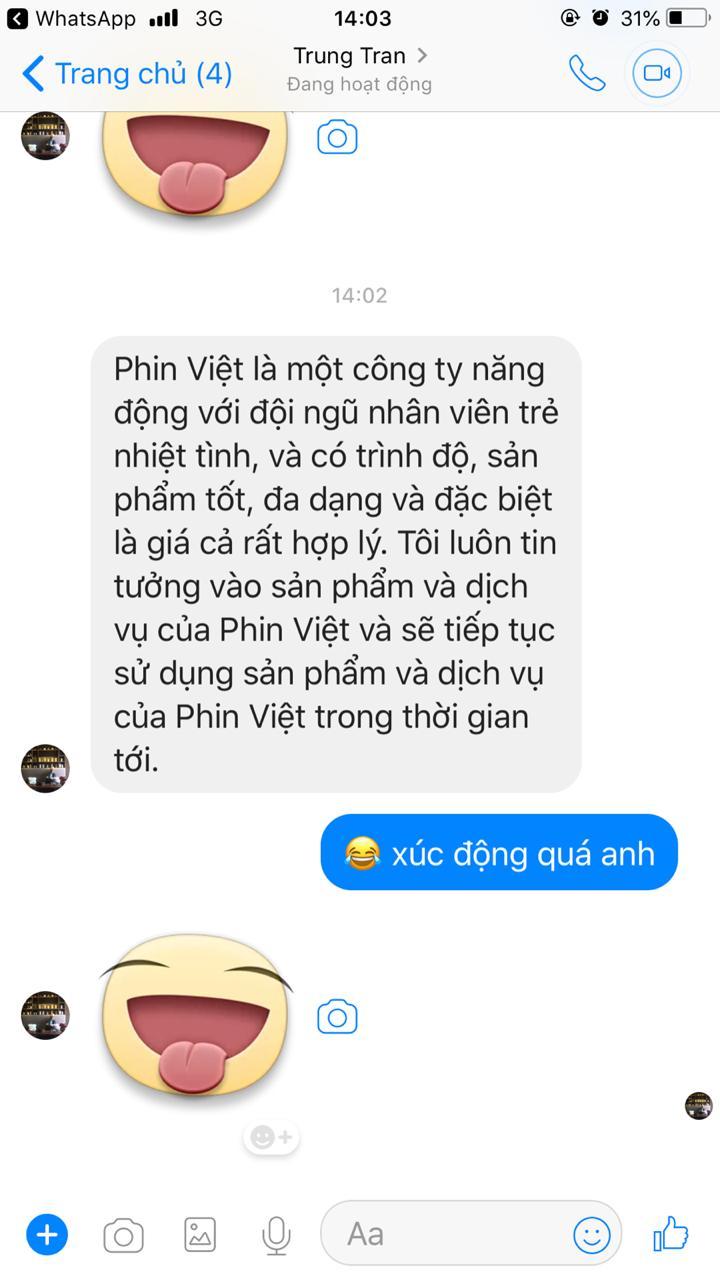 Anh Trung khách mua máy pha cafe của Phin Việt